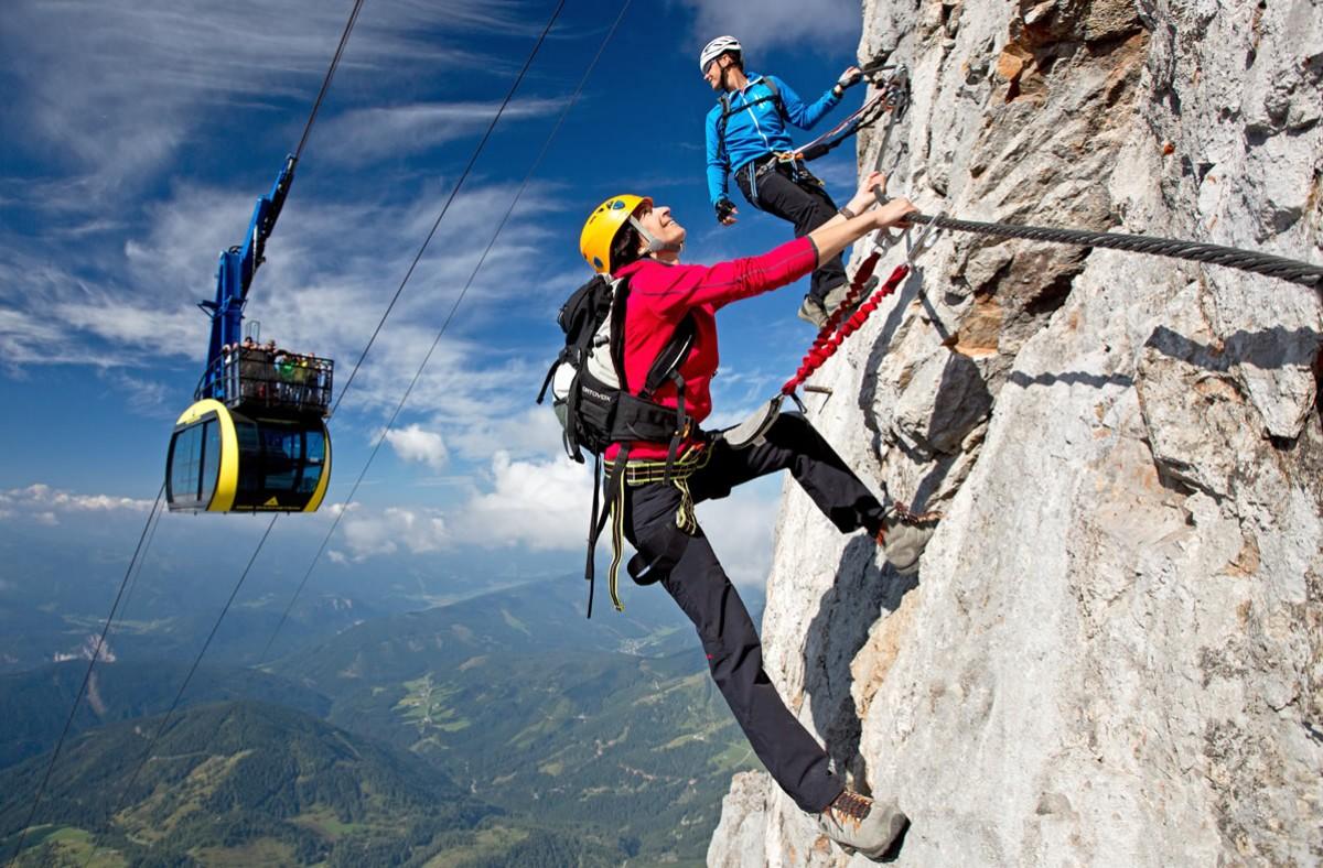 Klettersteig Austria : Klettern und klettersteige hotel lindenhof ramsau